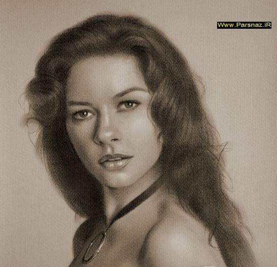 نقاشی های بسیار زیبا با مداد از بازیگران معروف هالیوود