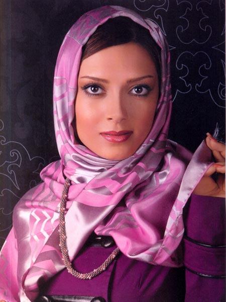 عکس مدل بستن روسری و شال مجلسی