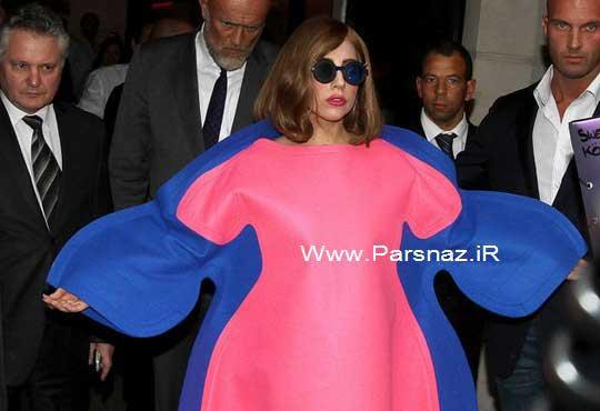 www.parsnaz.ir - عینک و لباس مسخره لیدی گاگا سوژه داغ رسانه ها شد