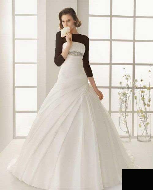 مدل لباس عروس ساده و شیک (عکس)
