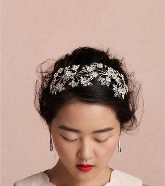 زیباترین مدل مو عروس با تاج